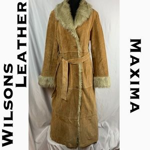 Wilsons Leather Maxima Patchwork Full Length Coat